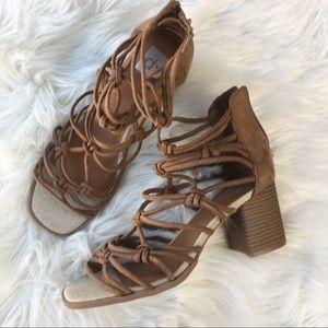 Shoes - NWOT strappy heels sandals